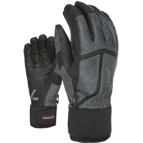 Level Off Oiste Leather Gloves Men anthracite